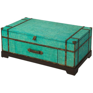 Anabel Green Raffia Trunk Cocktail Table