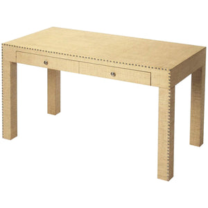 Danilo Cream Raffia Writing Desk