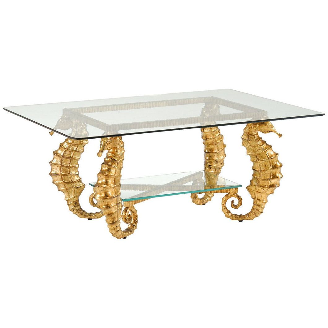 Chelsea House Seahorse Coffee Table | Gold