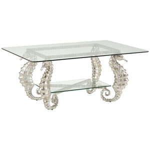 Chelsea House Seahorse Coffee Table | Silver