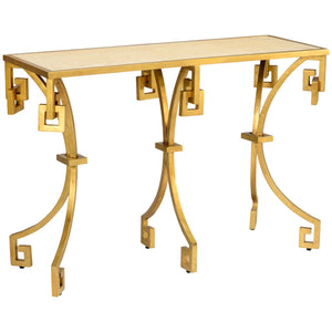 Athen's Gold Tan Console Table