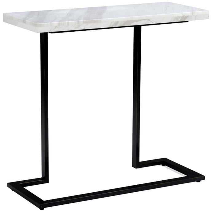 New York Console with Rectangular Marble Top | Black