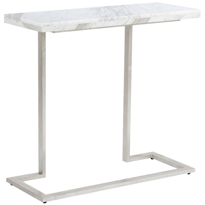 New York Console with Rectangular Marble Top