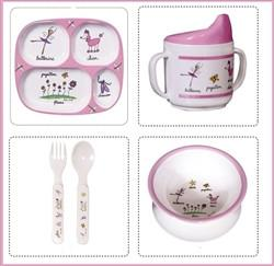 Ballerina Melamine Baby Dinnerware - GDH | The decorators department Store