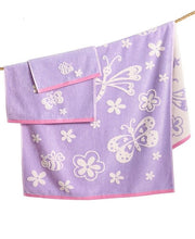 Butterfly Bath Towel S/6