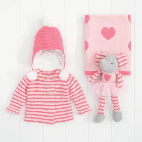 Pink Stripe Elephant Gift Bundle