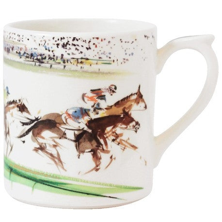 Gien Cavaliers Coffee Mug Racing - GDH | The decorators department Store
