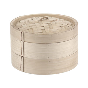 7 7/8 Bamboo Steamer Set (2+1) - homeinnapa.com