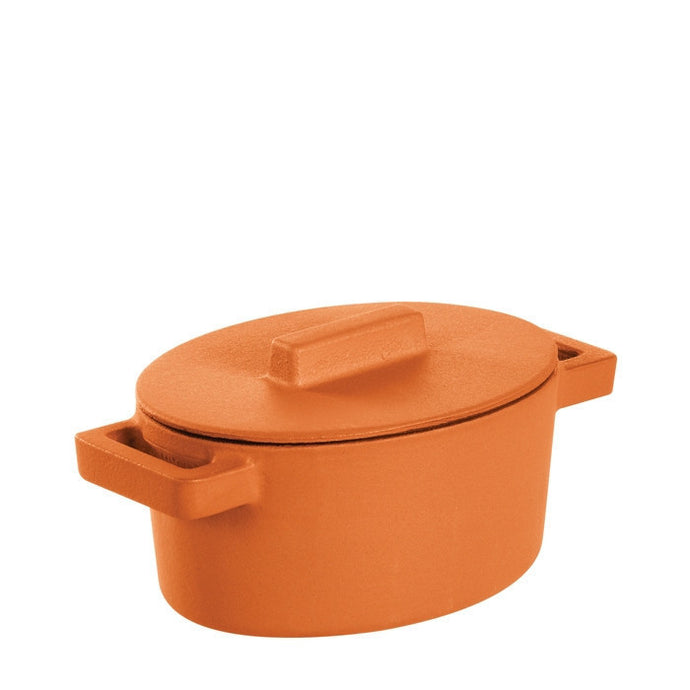 Terra Cotto Cast Iron Oval Casserole with Lid | Curry - GDH | The decorators department Store