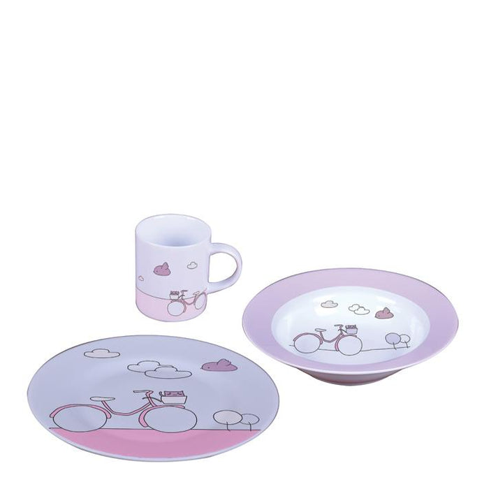 Kids Set Pink Bike 3 pcs Baby Set
