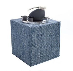 Chilewich Basketweave Cube | Denim