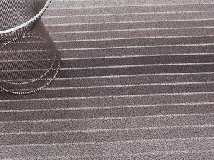Block Stripe Indoor/Outdoor Mat | Grey