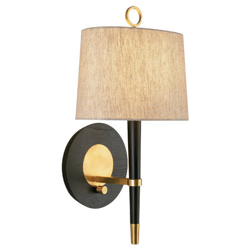 Jonathan Adler Ventana 1 Light Wall Sconce in Antique Brass