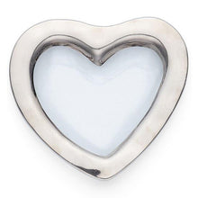 "Annieglass Roman Antique Platinum 8"" Heart Bowl - GDH 