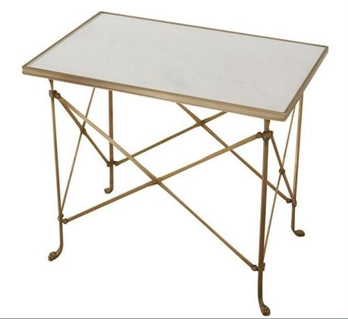 Rectangular Directoire Table - Brass and Marble - GDH | The decorators department Store