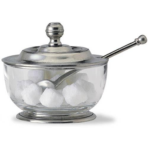 Match Pewter Sugar Bowl with Spoon