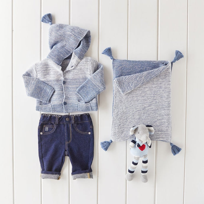 Indigo Ombre Sweater and Jeans Gift Bundle