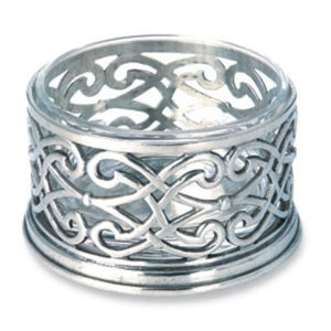 Match Pewter Cutwork Bottle Coaster - GDH | The decorators department Store