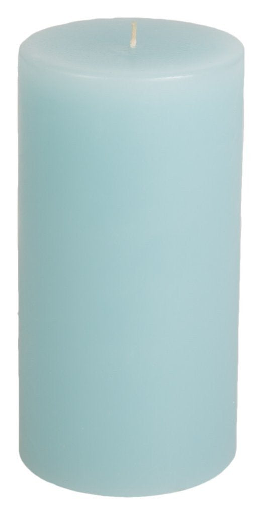Classic Hurricane Pillar Candles (Pair) | Aquamarine