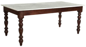 Turn Leg Table with Marble Top