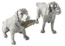 Pewter Hunting Dogs Salt and Pepper Shaker - GDH | The decorators department Store