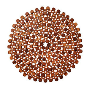 Round Bamboo Placemat by Kim Seybert | Brown | Set of 4 - GDH | The decorators department Store