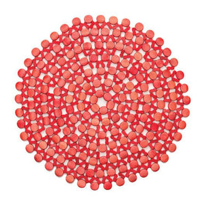 Round Bamboo Placemat by Kim Seybert | Coral | Set of 4 - GDH | The decorators department Store