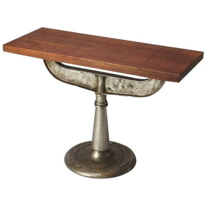 Industrial Chic Brown Console Table