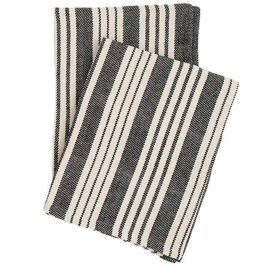 Birmingham Black Woven Cotton Throw