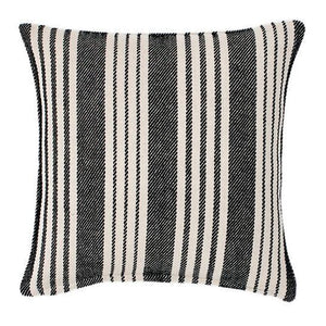 Birmingham Black Woven Cotton Decorative Pillow