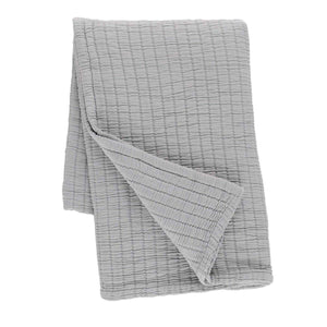 Boyfriend Grey Matelassé Throw