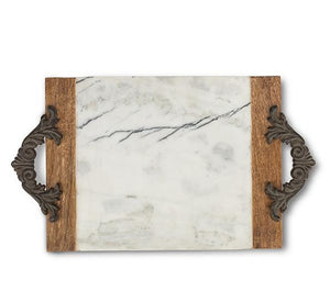 Antiquity Marble & Wood Large Cutting/Serving Board