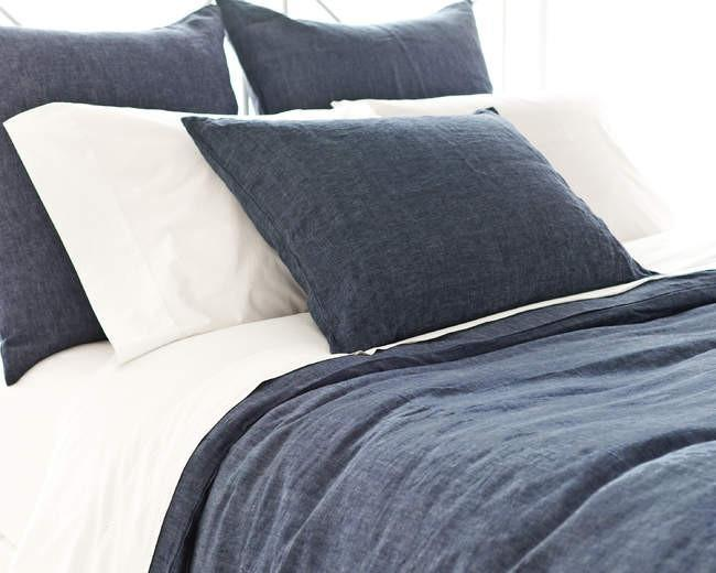 Chambray Linen Bed Linens | Ink - GDH | The decorators department Store