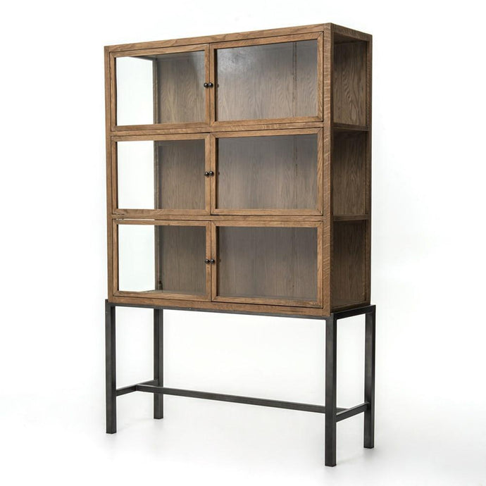 Spencer Curio Cabinet-Drifted Oak - Benton and Buckley