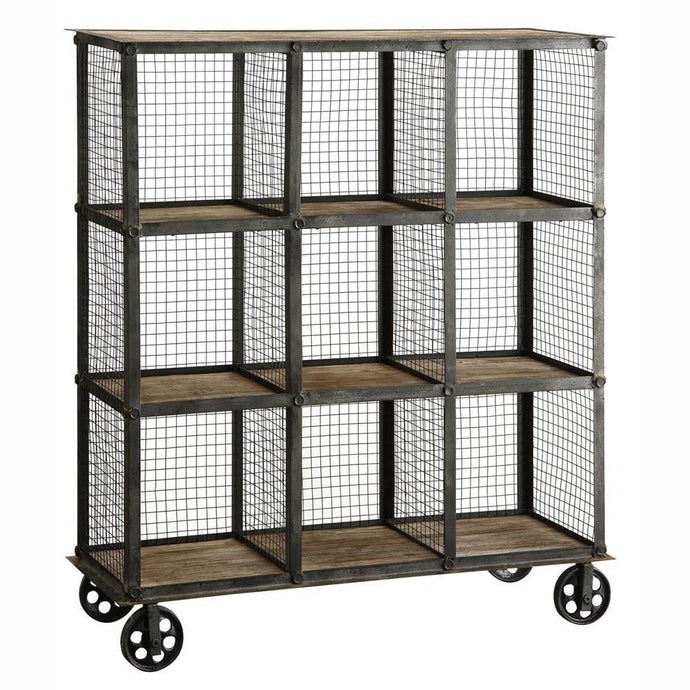 Industrial Metal and Wood Bookcase - Benton and Buckley