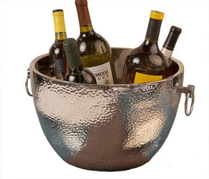 Nickel Aluminum Double Walled Hammered Wine Cooler