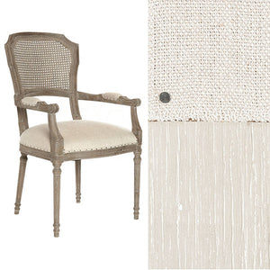 Aidan Gray Chelsea Dining Chair in Linen/Cane Back