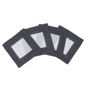 Cinta Charcoal Cocktail Napkin  S/4
