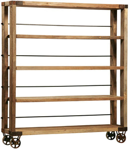 Natural Rolling Bookcase