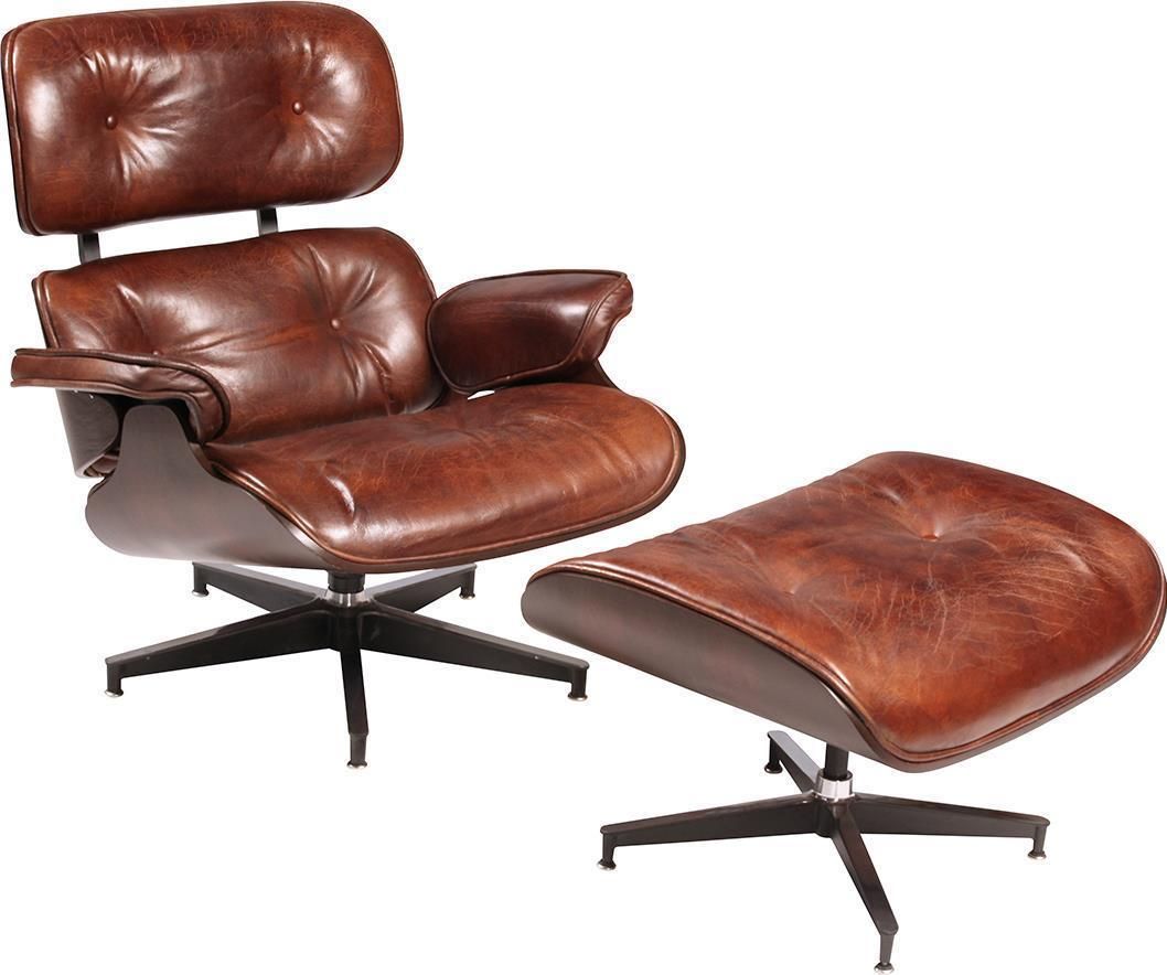 Belmont Leather Swivel Chair and Ottoman - Benton and Buckley