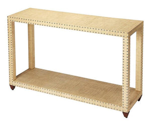 Danilo Cream Raffia Console Table