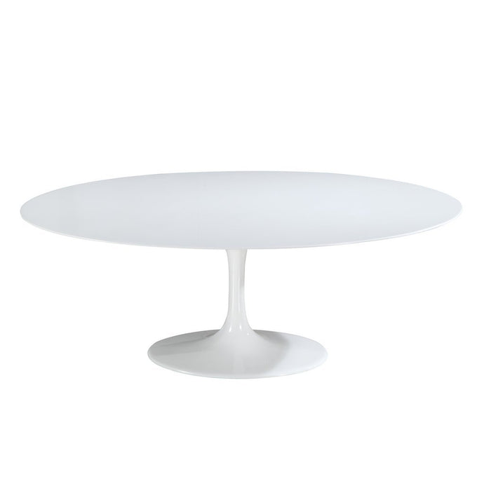 Daisy White Fiberglass Dining Table | 6 Sizes
