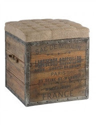 Sac de Moulin Wooden Cube - GDH | The decorators department Store