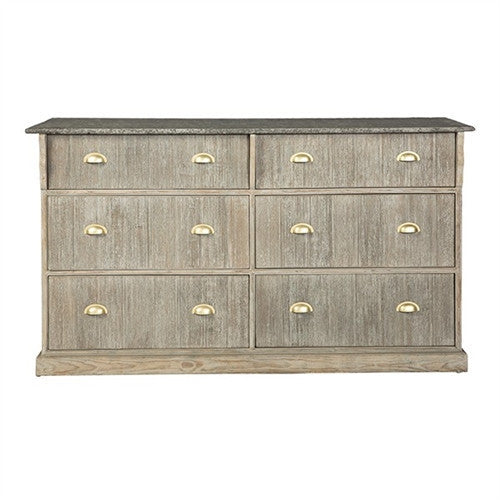 Aidan Gray Vanda 6 Drawer Chest - homeinnapa.com