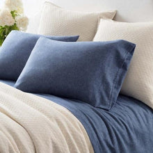 Chambray Blue Flannel Sheets