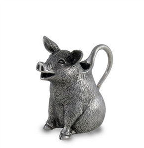 Pewter Pig Creamer - GDH | The decorators department Store