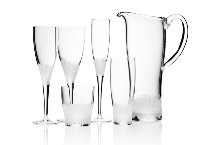 Paillette Stemware Frosted by Kim Seybert - GDH | The decorators department Store - 1