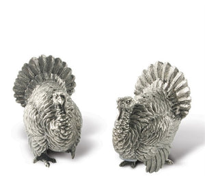 Pewter Turkey Salt and Pepper Shakers - GDH | The decorators department Store
