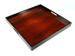 Large Square Serving Tray | 22 x 22 | Rosewood - HEY BARTENDER
