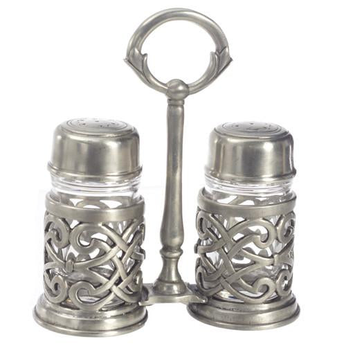 Match Pewter Cutwork Salt and Pepper Caddy